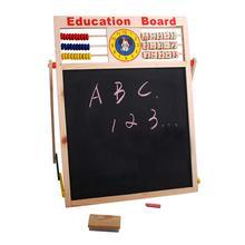 Blackboard Magnetic Board Abacus Wooden Letters Numbers Kids Educational Toys Cartoon Blackboard Wall Sticker