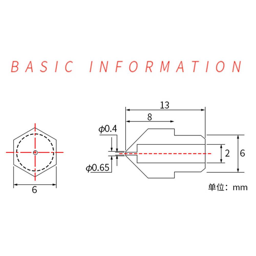MK7 MK8 Đầu Phun 0.4Mm 0.3Mm 0.2Mm 0.5Mm Đồng 3D In Phần Giàn Phơi Dây Ren 1.75Mm 3.0mm Dây Tóc Đầu Đồng Vòi Phun Một Phần
