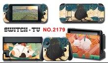 Mononoke Kins Vincy Màn Hình Da Bảo Vệ Miếng Dán Cho Máy Nintendo Switch NS Tay Cầm + Bộ Điều Khiển + Đế Đứng Da