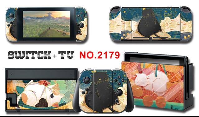 Mononoke kins vinyle écran protecteur de peau autocollants pour Nintendo Switch NS Console + contrôleur + support peaux
