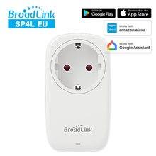 Broadlink sp4l ue wi fi inteligente plug com luz noturna temporizador tomada de controle voz compatível com alexa google casa