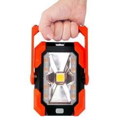 6W LED Solar Work Light  Portable Camping Lantern IP65 Waterproof Magnet Emergency Lamp Powered Bank Flashlight Torch