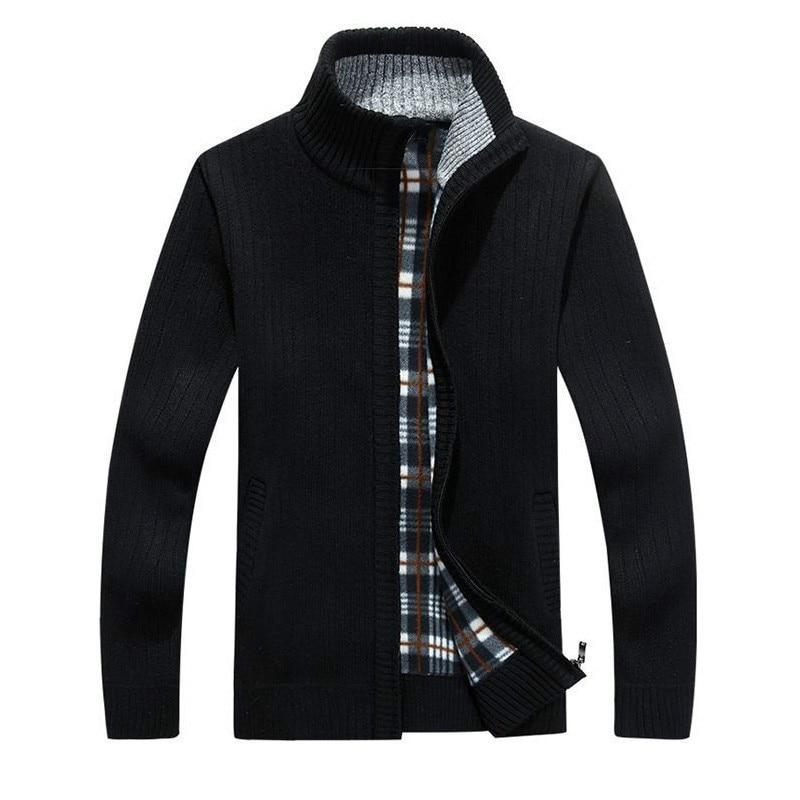 Zogaa 2019 New Men Solid Color Sweatercoat Male Autumn Winter Thick Sweater Coat Outerwear Slim Fit  Wool Fleece Sweaters Jacket