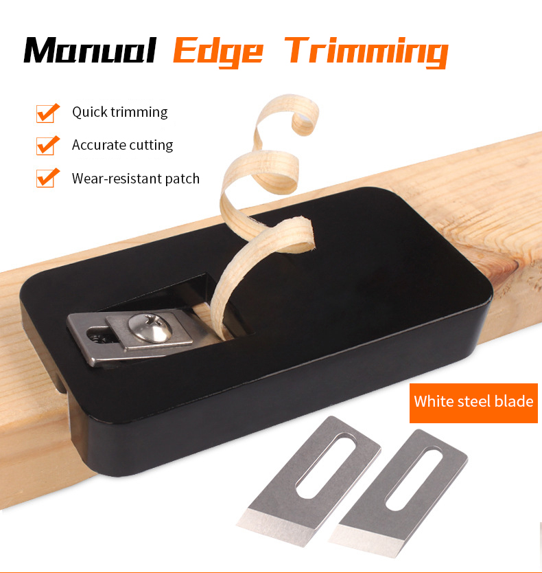 Manual Edge Trimmer Wood Edge Banding Machine Manual Tail Trimming Hand Tools Use for Wood PVC Wood Planer