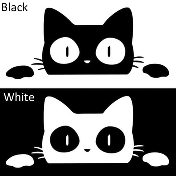 1pc Surprise Cat Peeking Funny Vinyl Vehicle Graphics Decal Sticker Car/Truck Laptop Bumper Decoration Car Styling 14CM*6.2CM image