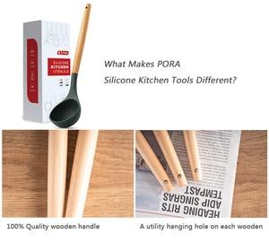Image 3 - 12 Chiếc Ốp Tiện Dụng Bộ Nhà Bếp Đồ Dùng Nấu Ăn Bộ Tre Hộp Đựng Đồ Dùng Nhà Bếp Thìa Đũa Bộ Thìa Turner Đánh Lưỡi