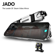 JADO D820 자동차 Dvr 스트림 백미러 대시 카메라 avtoregistrator 10 IPS 터치 스크린 풀 HD 1080P 자동차 레코더 대시 캠