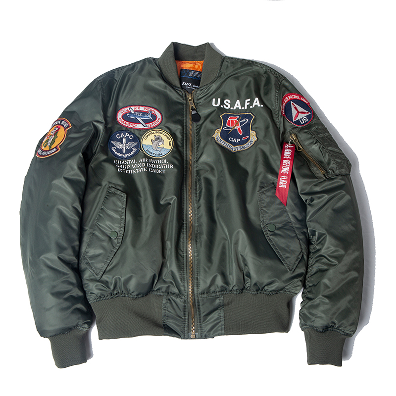 2019 A/W USAFA Vintage Pilot Bomber Flight Jacket Us Air Force Top Gun Men Clothes Brands Winter Army USN MA1 USMC Embroidery