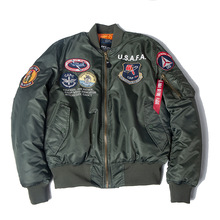 2020 A/W USAFA vintage pilot bomber flight jacket us air force top gun men clothes brands winter army USN MA1 USMC embroidery