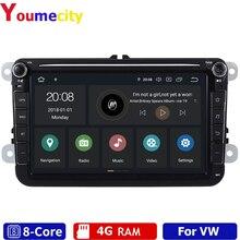 자동차 멀티미디어 라디오 플레이어 폭스 바겐 Tiguan Passat B6 B7 T5 골프 5 4 Touran Cc 캐디 폴로 세단 4GRAM/Eight Core/Android 9.0 New!
