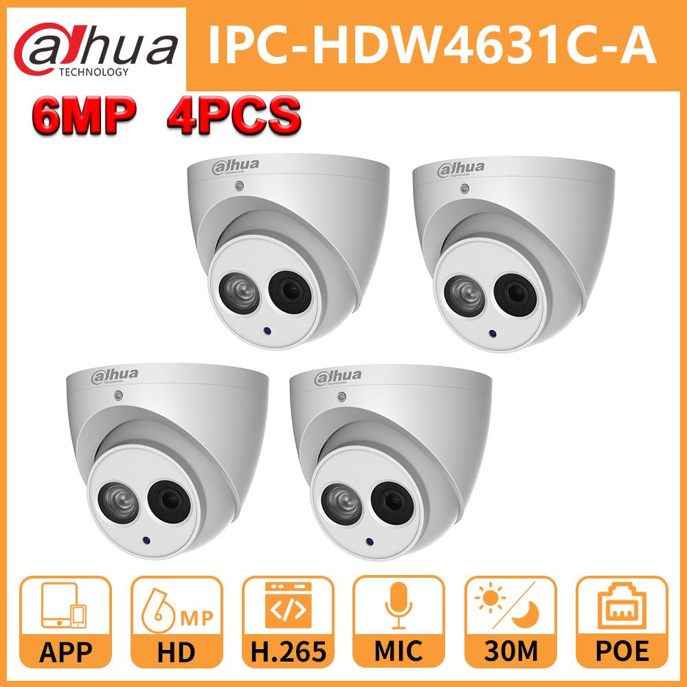 Wholesale Duahua DH 6MP IP Camera IPC-HDW4631C-A Upgrade From IPC-HDW4431C-A POE Mini Dome MIC CCTV Camera Security
