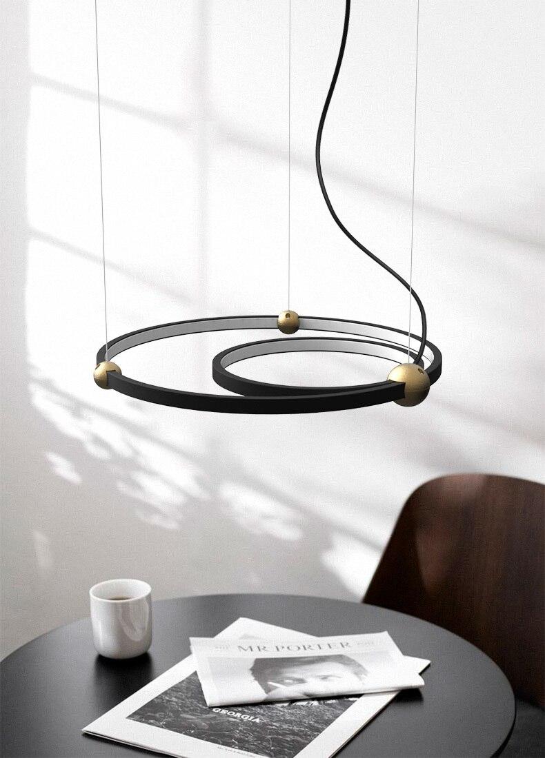 €18.18 Posmoderno nórdico Led círculo colgante luz comedor sala Bar  pasillo estudio cama de una sola cabeza cocina lámpara colgante deco