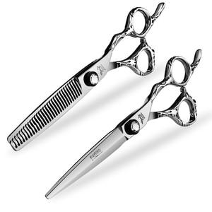 Image 3 - Japan Steel 5.5 6.0 Professional Hairdressing Scissors Hair Professional Barber Scissors Set Hair Cutting Shears Scissor Haircut
