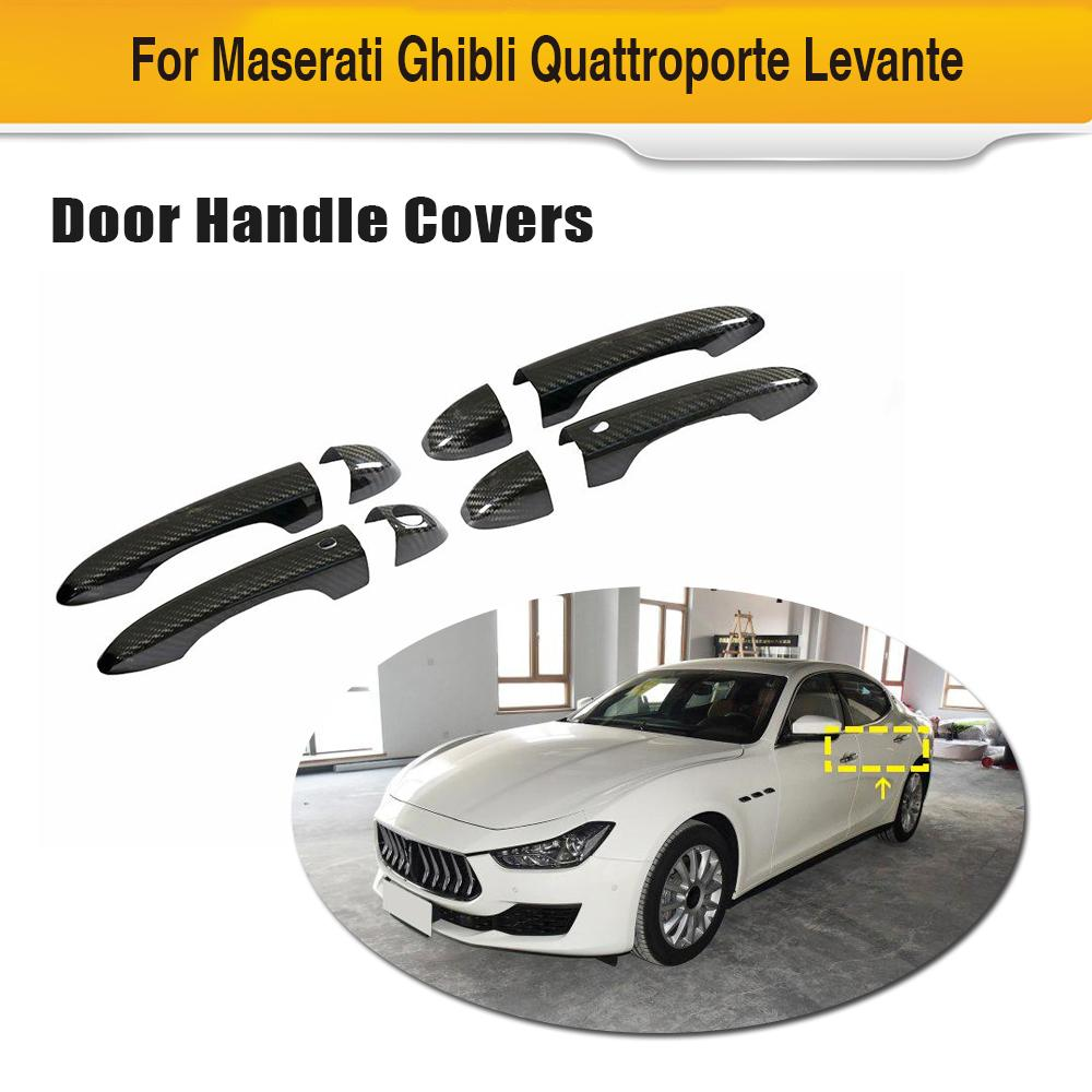 Carbon Fiber Car Outer Door Handle Cover Trim for Maserati Ghibli Quattroporte Levante LHD Only Door Handle Trims Covers image