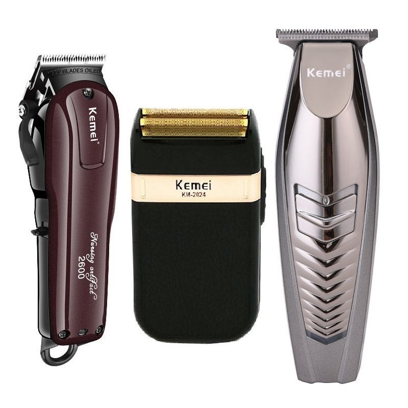 Kemei Electric Hair Clipper Rechargeable Cordless Hair Trimmer Beard Shaver Hair Cutting Machine Hair Cutter Barber
