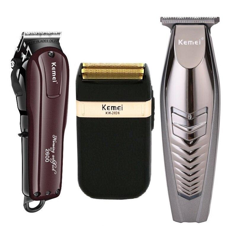 Kemei Electric Hair Clipper Rechargeable Cordless Hair Trimmer Beard Shaver Hair Cutting Machine Hair Cutter Barber