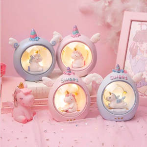 Room-Decor Bumper Unicorn Led-Night-Light Bedside Baby Kids Children for Lamp Birthday