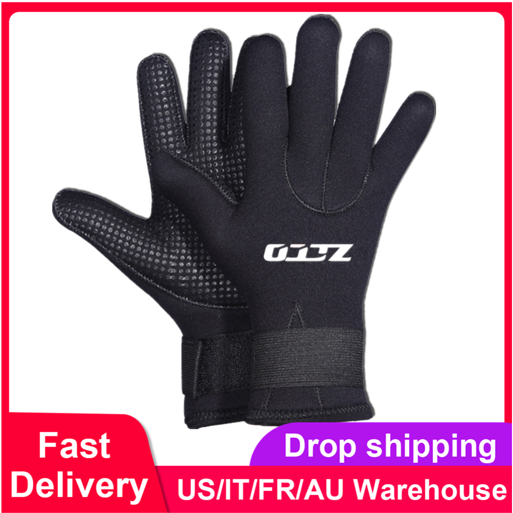 5MM Neoprene Gloves Spearfishing Diving Snorkeling Gloves Warm Boating Canoeing Kayaking Gloves For Swimming Winter Spearfishing