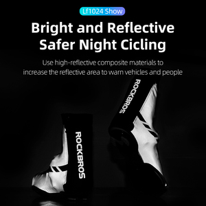 Image 4 - ROCKBROS – couvre chaussures de cyclisme, coupe vent, garde au chaud, équipement de cyclisme, vtt, route, hiver