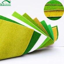 410*1000mm zielony Nylon Model dywany Turf dla modeli architektonicznych dekoracje użytki zielone pociąg układy kolejowe HO N skala materiałów