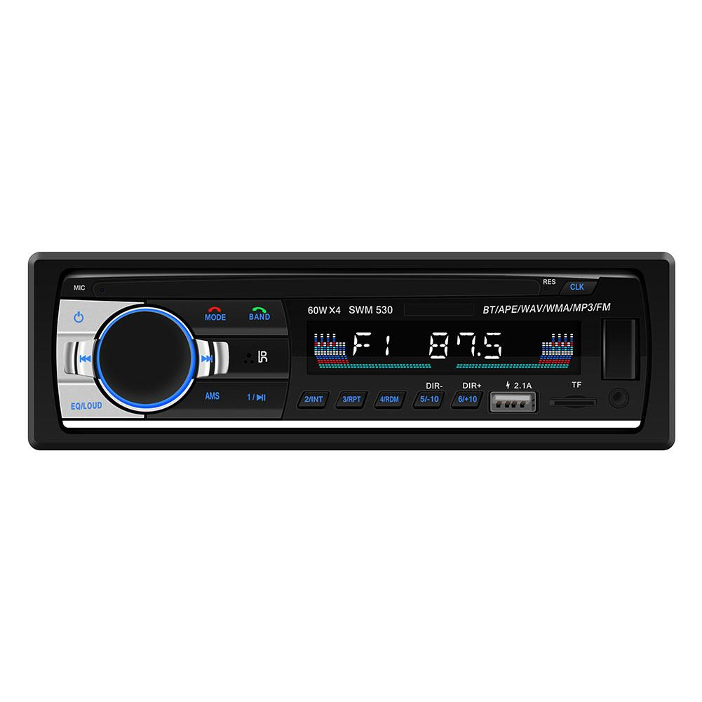 Bluetooth Car Audio Stereo 60WX4 Car Radio 12V In-dash 1 Din FM Aux Input Receiver USB MP3 MMC WMA Car Radio Mp3 Player image