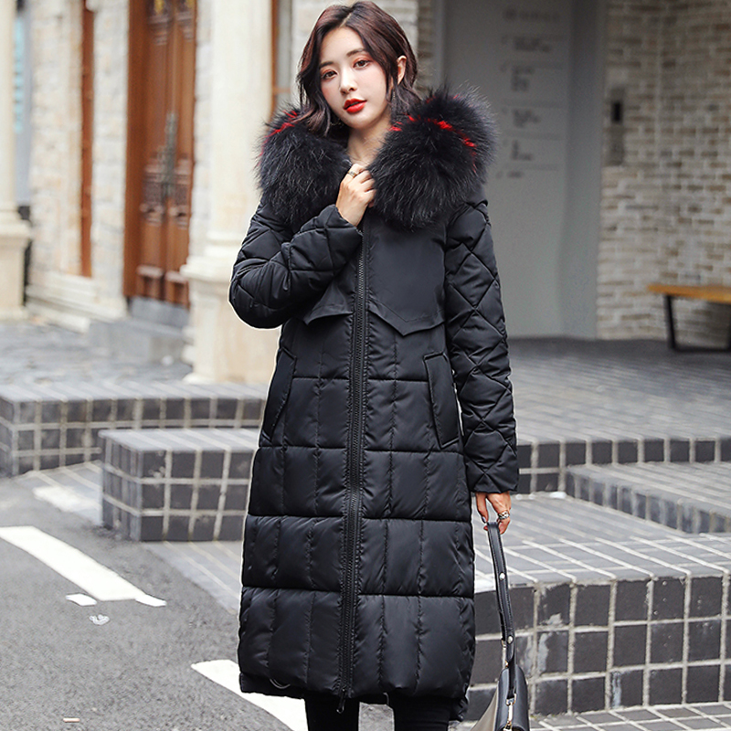 2019 New Double 2 Sides Winter Jacket Women Hooded Thicken Fur Collar Long Female Coat Ladies Warm Padded   Parka   High Quaity