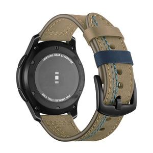 Ремешок из натуральной кожи для samsung galaxy watch 46 мм gear S3 Frontier huawei watch gt 2 46 мм ремешок для часов amazfit GTR 47 мм браслет