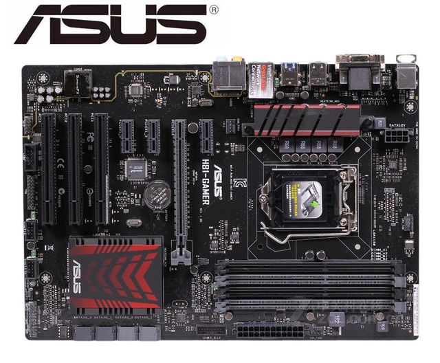 ASUS H81-GAMER carte mère originale DDR3 LGA 1150 16GB USB2.0 USB3.0 H81 cartes mères de bureau doccasion