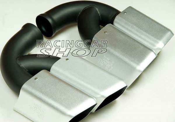 Short Pipe Exhaust Tips Square Muffler Ends Fit For Porsche Cayenne V8 2011-2014 1pair T054W 4