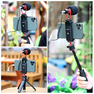Image 5 - Ulanzi Rekord Mikrofon Stativ Vlog Kit Mini Stativ Vertikale Schießen Telefon Mount Kit 3,5 MM Jack Video Audio Mikrofon