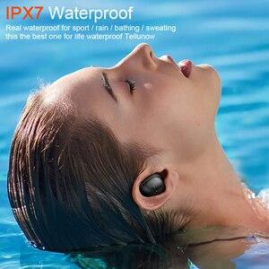 Image 2 - TWS Bluetooth 5.0 אוזניות IP7 אלחוטי אוזניות 6D סטריאו HiFi אלחוטי Earbud משחקי אוזניות עם מיקרופון 2200mAh אפרכסת