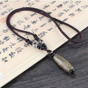 Кулон Dzi Nine Eye тибетский, ожерелье-чокер натуральных камней