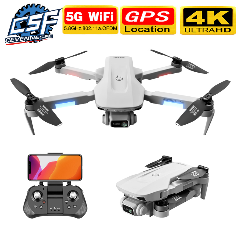 2020 New Fast Mini H8 GPS RC Drone With 4K HD Dual Camera Gesture Control 30 Minutes 2KM 5G Wifi FPV RC Drones VS F11 SG906