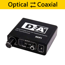 192KHz DAC Digital to Analog Audio Converter 3 in 1 Optical Toslink Coaxial to Analog RCA L/R 3.5mm Jack Audio Adapter
