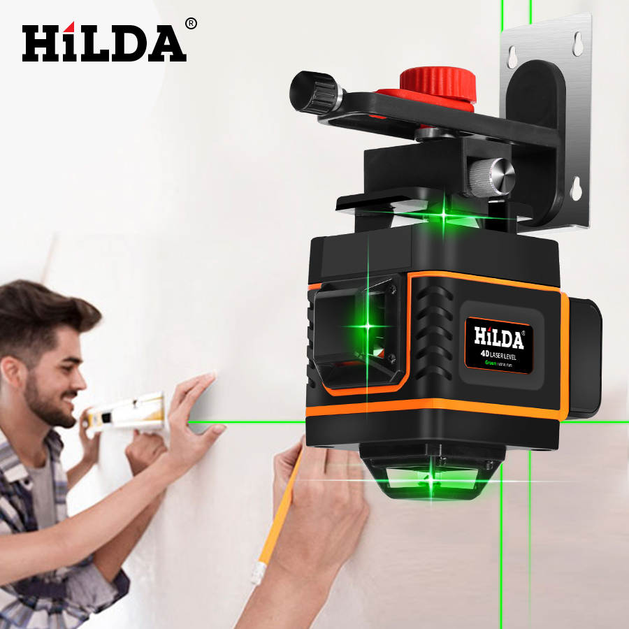 HILDA 16 Lines 4D Self Leveling Laser Level with Buzzing Alarm for Indoor and Outdoor Use 4
