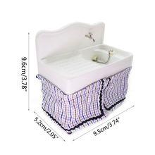 1/12 миниатюрный кукольный домик для умывальника, раковина, мебель для ванной комнаты, декор для детской игрушки Q6PD