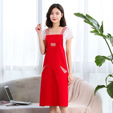 Aprons household kitchen cotton Korean fashion cooking adult smock oil proof jacket tailored work clothes