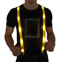 Новейший светодиодный светящийся светильник вверх регулируемая эластичная Спорт на открытом воздухе Предупреждение нагрудный ремень