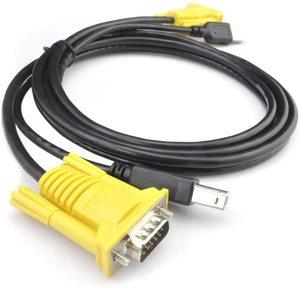 1,5 м USB KVM-переключатель кабель USB2.0 15Pin VGA штекер-штекер USB A-USB B шнур Кабели ПК компьютерный принтер монитор адаптер преобразователь