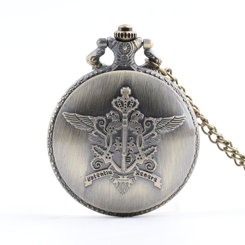 Pocket & Fob Watches Kuroshitsuji Black Butler Sebastian Anime Pocket Watch for Men Women/Mens  Pendant Watch Gift