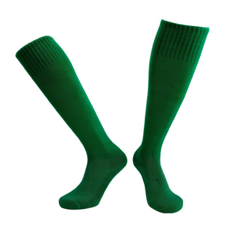 Football Socks Long Compression Thickening Towels` Bottom Sport Socks Breathable Non-slip Sweat-absorbing Training Accessories