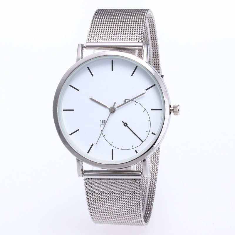 Cross-border Special For Joom Men's Watch Personality Simple Inner Plate Net Belt Quartz Watch Factory Direct Sales