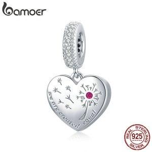 Bamoer, Настоящее серебро 925 пробы, Бесплатная подвеска в виде одуванчика, Шарм для оригинального серебряного браслета или ожерелья, ювелирные ...