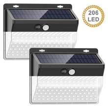206 светодиодный светильник на солнечной батарее с датчиком