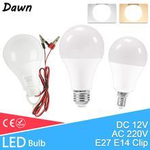 Dimmable LED E27 E14 Bulb Lamps 220V DC12V High Brightness Light Bulb 24W 20W 18W 15W 12W 9W 5W 3W LED E14 Warm White Cold White