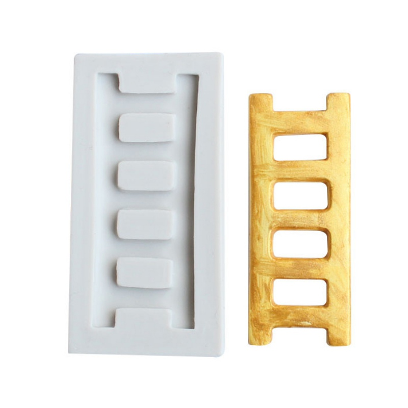 Silicone Mold Ladder Design Fondant Candy Making Mould Kitchen Cake Decorating Tool Chocolate Polymer Clay Making Supplies