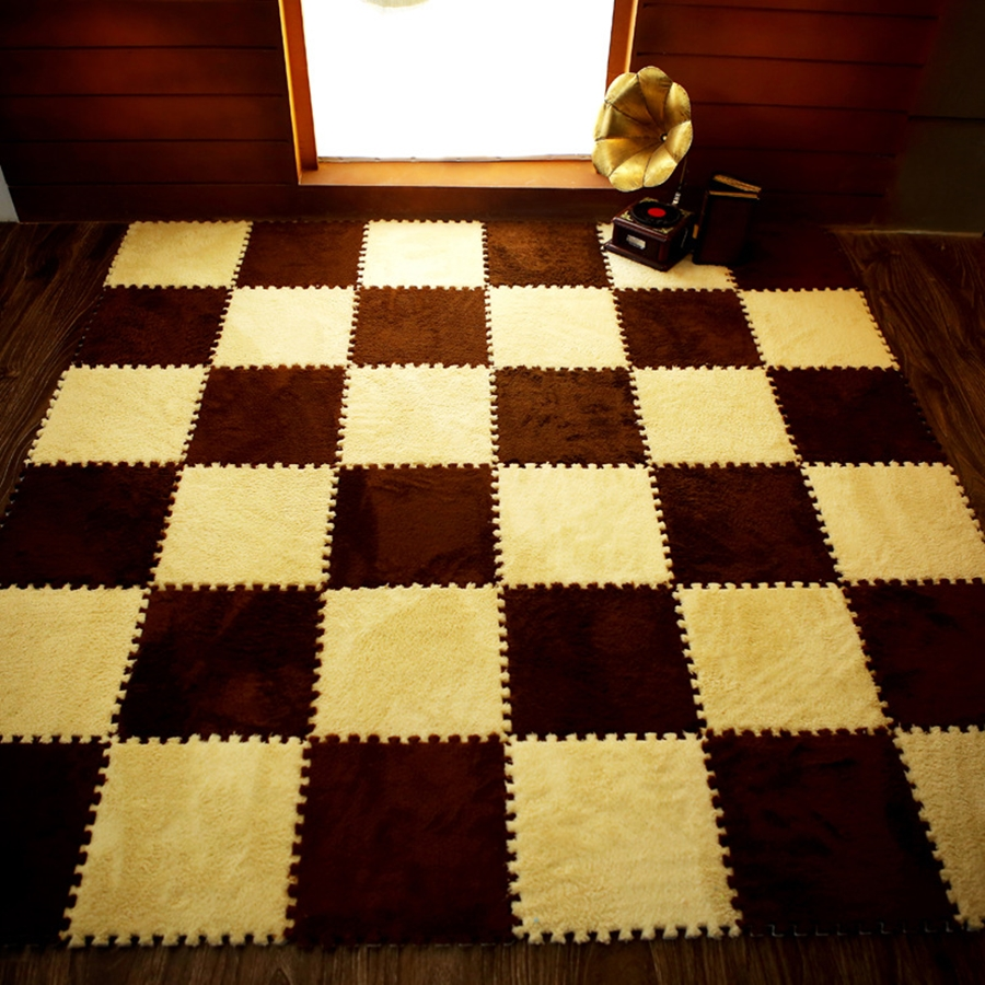 New Top Sale 30*30cm Living Room Bedroom Children Kids Soft Carpet Magic Patchwork Jigsaw Splice Heads Baby Climbing  Mat 1pc