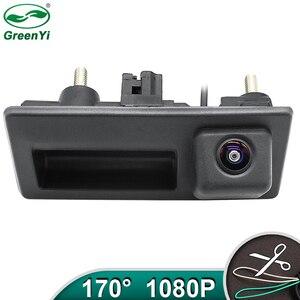 Image 1 - HD AHD 1080P 170 Grad Fisheye Objektiv Auto Hintere Ansicht rückseite Stamm Griff Kamera Für VW Passat Golf polo Jetta Audi A4 A6