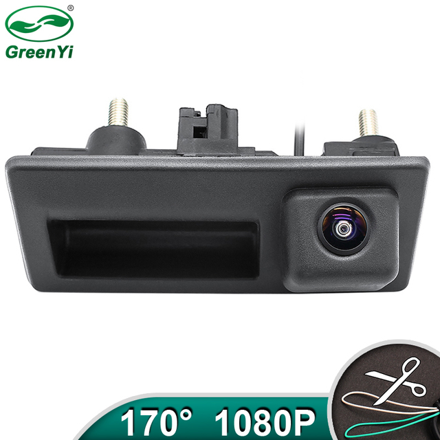 HD AHD 1080P 170 Grad Fisheye Objektiv Auto Hintere Ansicht rückseite Stamm Griff Kamera Für VW Passat Golf polo Jetta Audi A4 A6