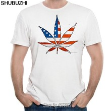 Summer Usa Flag Bald Eagle Men T Shirts Cotton Short Sleeve Fans Nostalgia United States Flag Style T-Shirts For Men(China)